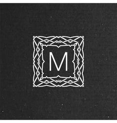 floral monogram vector image