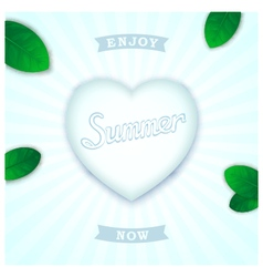 Fresh summer design vector image
