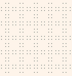 geometric seamless pattern with tiny dots vector image