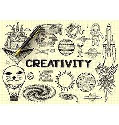 Imagination sketch vector