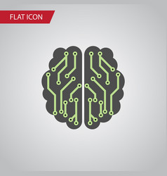 Isolated imagination flat icon brain vector
