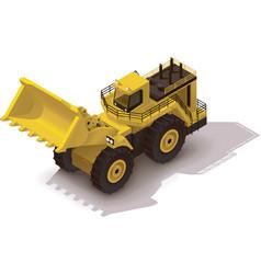 isometric mining wheel loader vector image vector image