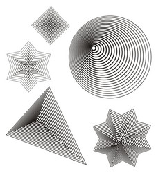 lines shape vector image