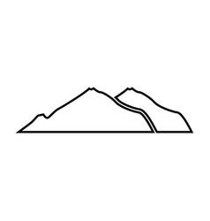 Mountain black color icon vector
