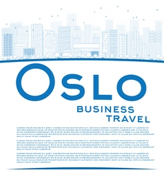 Oslo business travel concept vector