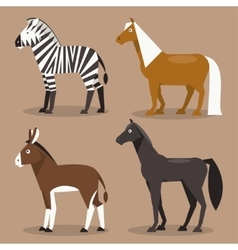 Set equines vector