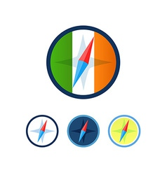 Set of Compasses vector image vector image