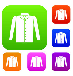 shirt set collection vector image