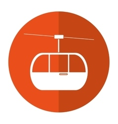 sky cable car transport mountain shadow vector image vector image