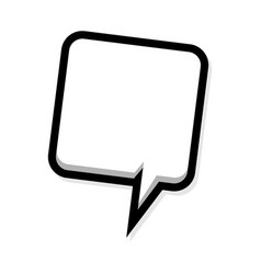 speech balloon icon vector image vector image