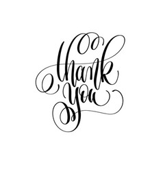 thank you - hand lettering inscription text vector image vector image