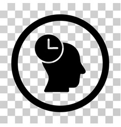 Time thinking rounded icon vector