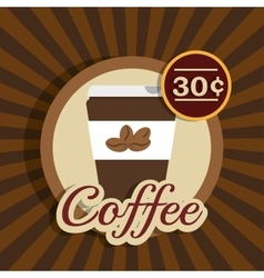 Cartoon cup coffee design design vector