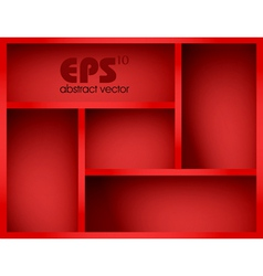 Red shelf vector