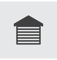 Car garage icon vector image