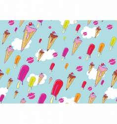 oil hand drawn ice creams vector image