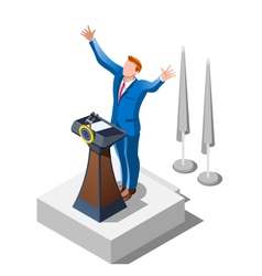 Election infographic political debate isometric vector