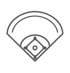 camp diamond baseball sport vector image