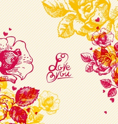 Floral background with hand lettering vector