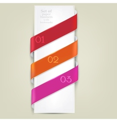 Colorful bookmarks for text background vector image