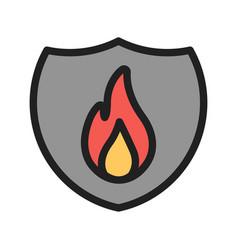 Fire shield vector
