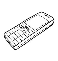 Cartoon image of cellphone vector
