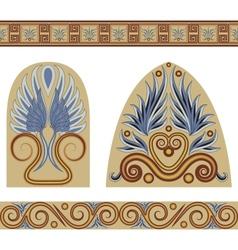 Greek set vector image