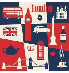 Retro style poster with london vector