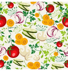 Vegetarian food pattern background vector