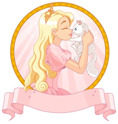 Princess and Cat vector image