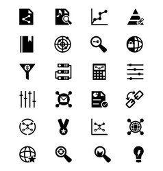 Online marketing icons 3 vector
