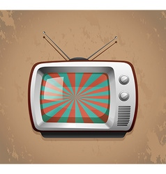 Retro television on grunge background vector