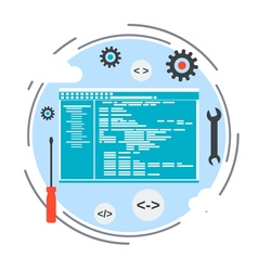 Application development program coding concept vector