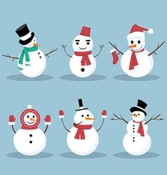 Snowman collection vector