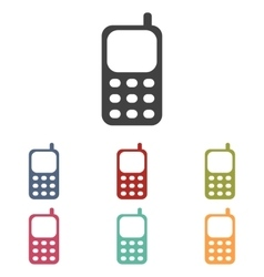 Cell phone icons set vector