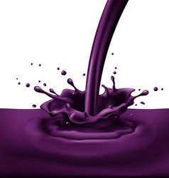 Violet paint splashing vector
