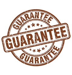 Guarantee brown grunge round vintage rubber stamp vector