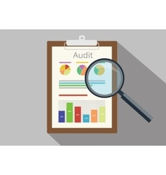 Audit graph data analysis result vector