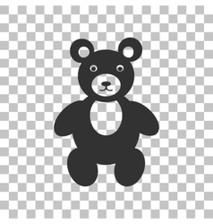 Teddy bear sign  dark gray icon on vector