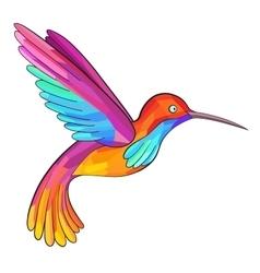 Colorful colibri hummingbird great for company vector