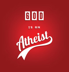 Atheism theme - against religious ignorance vector