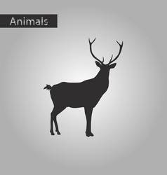 Black and white style icon of deer vector