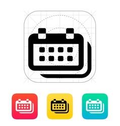 Calendars icon vector