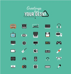 Color icons in minimal style vector