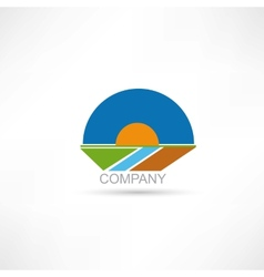Company agriculture icon vector