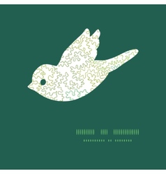 Curly doodle shapes bird silhouette pattern vector