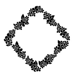 Frame of flowers icon vector