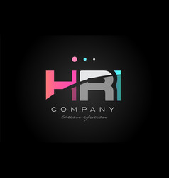 hri h r i three letter logo icon design vector image