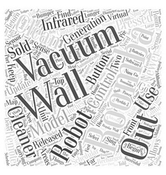 Roomba vacuum cleaner word cloud concept vector