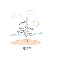 Sports on the beach vector